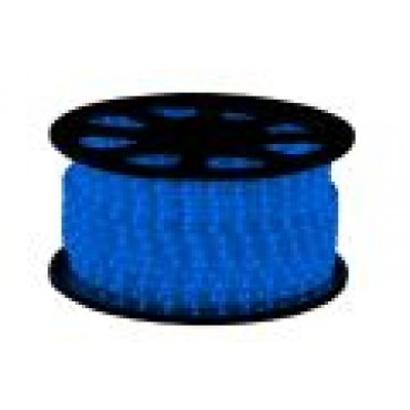 Tronix Lichtslang Led 24V Blauw 30M Ip44 Rond 13Mm Striped Wire